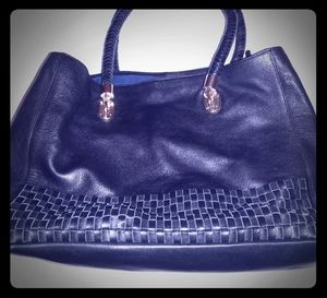 Cole Haan leather woven handbag